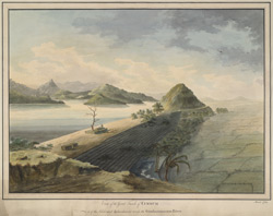 The great tank and embankment at Cumbum on the Gundlakamma River. March 1794